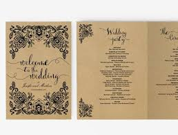 Diy Wedding Fan Programs Wedding Fan Program Editable Ms Word Template Diy Kraft White