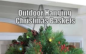 christmas hanging baskets with lights outdoor hanging christmas decorations outdoor hanging baskets