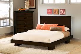 Bed Frame Set Hiro Platform Bed In Warm Haiku Designs
