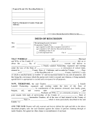 of rescission form fill online printable fillable blank
