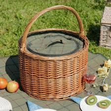 Wine Picnic Basket Personalised Barrel Tweed Chiller Picnic Hamper By Dibor