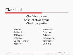 commis de cuisine d馭inition ch 01 professionalism