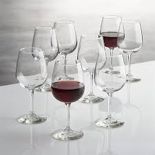 wine sets boxed wine glasses set of 8 in wine glasses reviews crate and