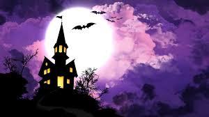 halloween hd wallpaper hilltop castle on halloween hd wallpaper 1436265