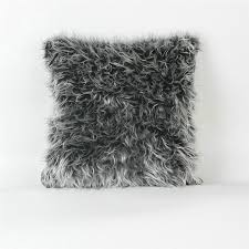 Pottery Barn Faux Fur Pillow Faux Fur Pillows Faux Fur Euro Pillow Brown Fieldcrest Target