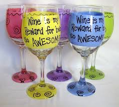 wine glass gifts wine is my reward for being so awesome wine glass gift