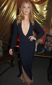 natalie dormer wows in dangerously low cut navy gown at game of