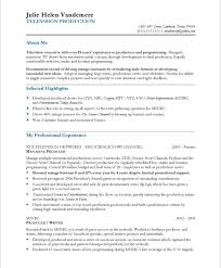 Picture Of Resume Examples by Tv Media Producer Resume Samples U0026 Examples