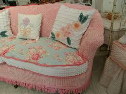 Where Can I Buy Shabby Chic Furniture by Shabby Chic Sofa Slipcovered With Vintage Chenille Bedspreads And