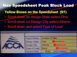 instructions for using acca manual n speedsheet youtube