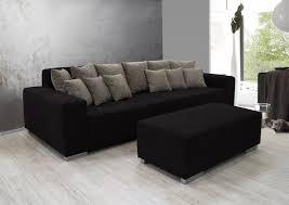 big sofa schwarz ariva 3 big sofa polstersofa stabil inkl kissen stoffbezug