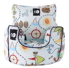 cotton blue pirate island bean bag arm chair with beans toddler