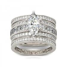 marquise cut wedding set jeulia 3pc milgrain marquise cut created white sapphire wedding