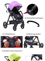 Baby Stroller Canopy by 2015 New White Canopy Baby Stroller China Manufacturer Thick Seat