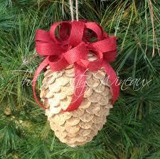 large winecone wine cork pine cone christmas ornament in
