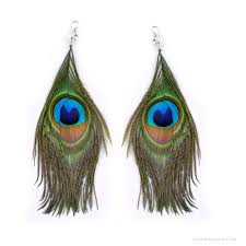 peacock feather earrings peacock feather earrings on sale for 6 99