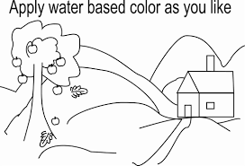 printable scenery coloring pages coloring page for kids kids