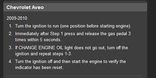How To Reset Maintenance Light How To Reset The Oil Light