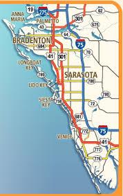 printable map key print out sarasota florida map bradenton florida map also siesta