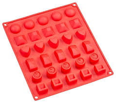 sorbus silicone chocolate mold 30 cavity assorted shapes
