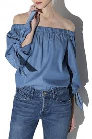 denim blouses s strapless denim blouses shoulder sleeve top