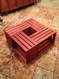 diy crate coffee table potted plant in the middle yaaaayyyy
