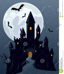 halloween scene clipart ghost clipart spooky castle pencil and in color ghost clipart