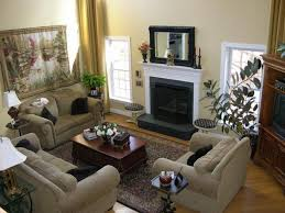luxury small home living room decorating ideas with beige velvet
