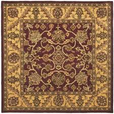 Square Wool Rug Safavieh Handmade Golden Jaipur Burgundy Gold Wool Rug 8 U0027 Square