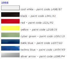 paint colors for all years newbeetle org forums
