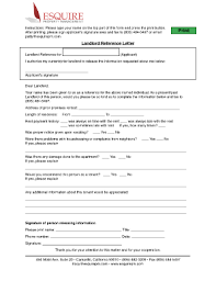 landlord reference letter forms and templates fillable