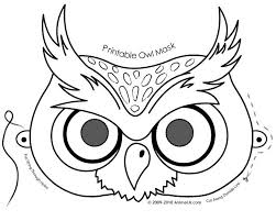 owl activities free printable owl mask coloring owl