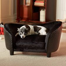 Sofa Bed For Dogs by Enchanted Home Pet Snuggle Bed Gray Chevron Hayneedle