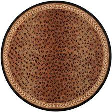 Brown And Orange Area Rug Animal Print Area Rugs Rugs The Home Depot