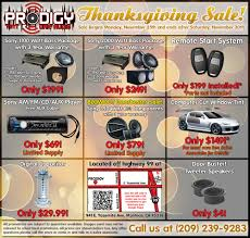 thanksgiving sale prodigy car audio