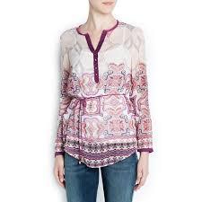 top design top design stylish blouse cashews printed positioning shirt