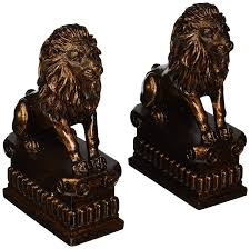 lion bookends deco 79 polystone lion bookend pair unique table and