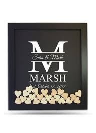 heart guest book pers family initial drop heart guest book frame david s bridal