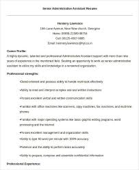 Senior Executive Assistant Resumes Samples by Best Administrative Resume 17 Free Word Pdf Documents Download