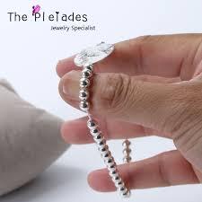 bracelet elastic silver images 925 sterling silver photo engrave bracelet personalized oval charm jpg