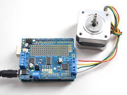 using stepper motors adafruit motor shield v2 for arduino