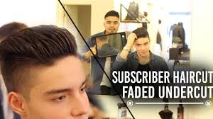 subscriber haircut men u0027s faded undercut youtube