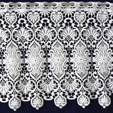 macrame lace cafe curtains