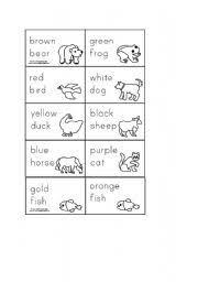 esl kids worksheets brown bear