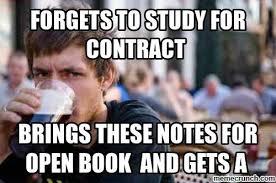 Contract Law Meme - law exam