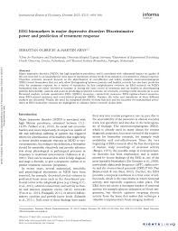 eeg biomarkers in major depressive disorder discriminative power