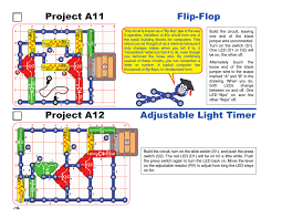 Project A11 Flip Flop Project A12 Adjustable Light Timer