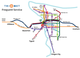 portland light rail map portland the high frequency grid is back human transit