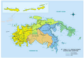 road map of st usvi map of st johns islands 9 maps update 903599 vi to