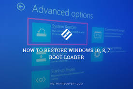 install windows 10 bootloader to restore windows 10 8 7 boot loader